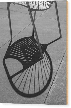 Wood Print featuring the photograph A Shadow Cast - Abstract by Steven Milner