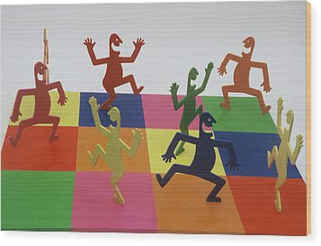 A Shortcut To Happiness - Dancing Wood Print by Peter Michel