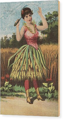 A Shweat Girl Wood Print by Aged Pixel
