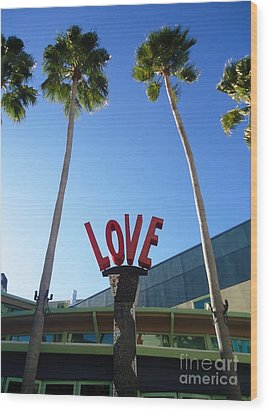 A Sign Of Love Wood Print by Ann Johndro-Collins