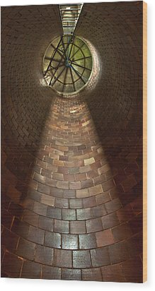 Wood Print featuring the photograph A Silo Of Light From Above by Jerry Cowart