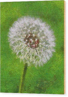 Wood Print featuring the painting A Simple Beauty by Joe Misrasi