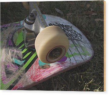 A Skateboard's True Colors Wood Print by James Rishel
