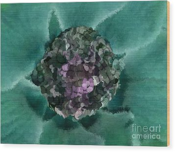 A Sky Full Of Lighters Teal Purple Wood Print by Holley Jacobs