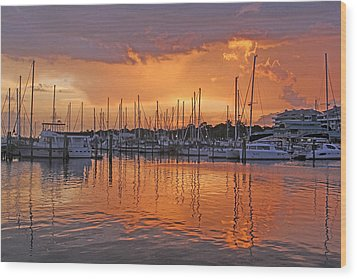 Wood Print featuring the photograph A Sky Full Of Wonder - Florida Sunset by HH Photography of Florida