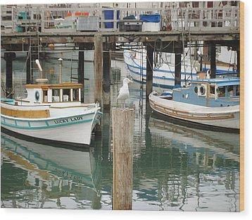 Wood Print featuring the photograph A Small Harbor by Hiroko Sakai