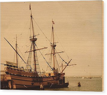 Wood Print featuring the photograph A Small Old Clipper Ship by Amazing Photographs AKA Christian Wilson