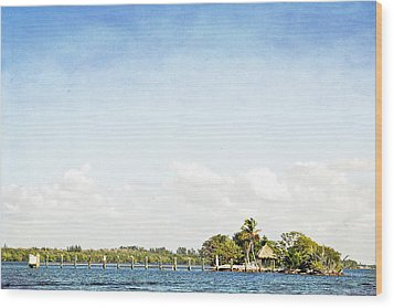 Wood Print featuring the photograph A Small Piece Of Paradise by Rosemary Aubut