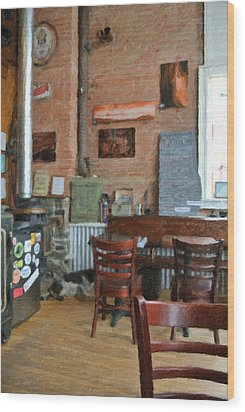 A Small Town Brewing Company Wood Print by Image Takers Photography LLC - Carol Haddon