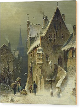 A Small Town In The Rhine Wood Print
