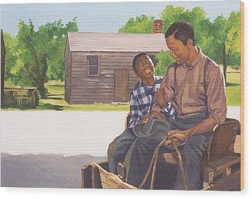 A Sons Comfort Wood Print by Colin Bootman