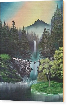 A Special Mountain Spot Wood Print by Lee Bowman