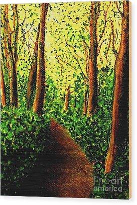 Wood Print featuring the painting A Spiritual Awakening by Hazel Holland