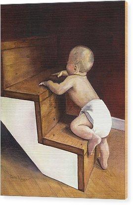 A Stairway Of Miracles Wood Print by Terri  Meyer