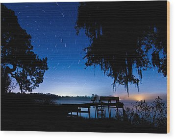A Starry Night Wood Print by Walter Arnold