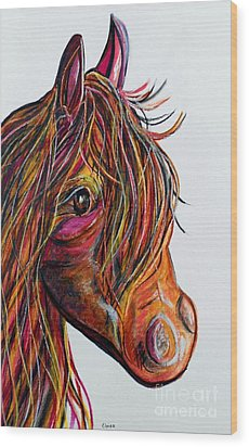 A Stick Horse Named Amber Wood Print by Eloise Schneider