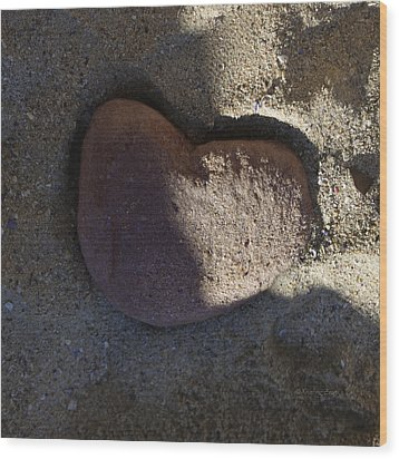 A Stone Heart Wood Print by Xueling Zou