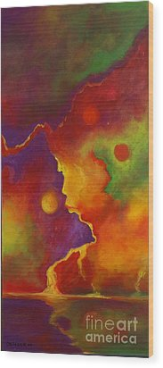 Wood Print featuring the painting A Storm Called Jimi by Alison Caltrider