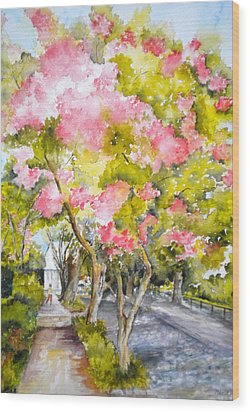 A Street In Charleston Wood Print