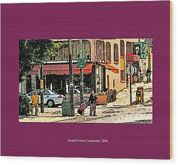 A Street In Frisco 2006 Wood Print by Joseph Coulombe