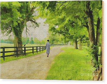 A Stroll Along The Bluegrass Wood Print by Darren Fisher