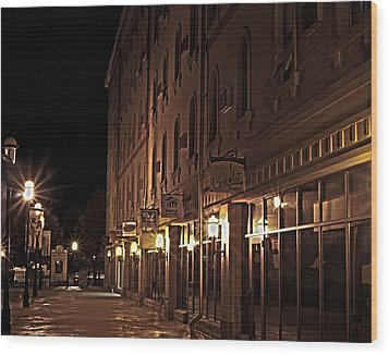 Wood Print featuring the photograph A Stroll In The City by Deborah Klubertanz