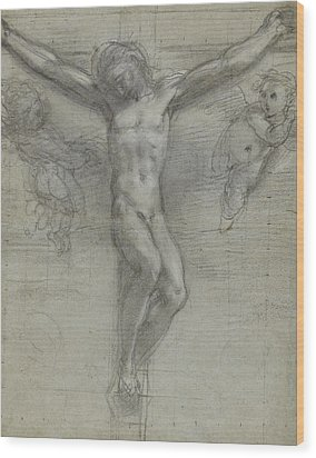 A Study Of Christ On The Cross With Two Wood Print by Federico Fiori Barocci or Baroccio
