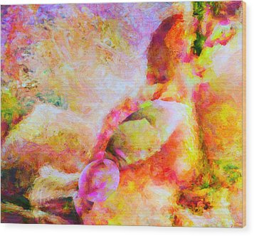 Wood Print featuring the painting A Summer Afternoon Love by Joe Misrasi