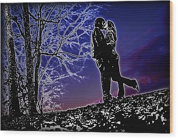 A Sunset Embrace Wood Print by Brian Archer