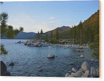 Just Before Sunset At Lake Tahoe Wood Print