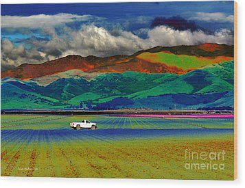 Wood Print featuring the photograph A Surreal Ride by Susan Wiedmann