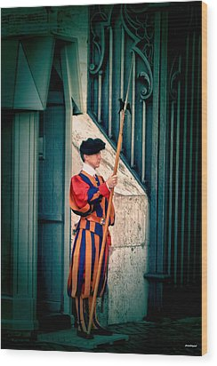 A Swiss Guard Wood Print