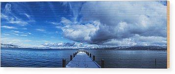 A Tahoe Winters Dream Wood Print by Brad Scott