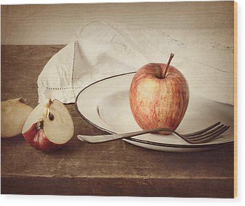 A Taste Of Autumn Wood Print by Amy Weiss