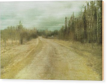A Textured Pictorialist Photograph Of A Wood Print by Roberta Murray