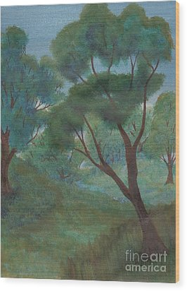 A Thought Of Summer Wood Print by Robert Meszaros