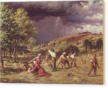 A Thunder Shower, 1859 Wood Print by James Thomas Linnell