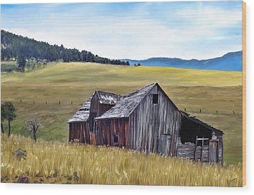 A Time In Montana Wood Print