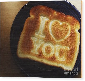 Wood Print featuring the photograph A Toast To My Love by Kristine Nora