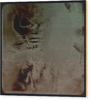 Wood Print featuring the digital art A Tormented  Mind by Jason Lees