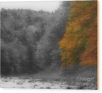 A Touch Of Autumn Colors Wood Print by Smilin Eyes  Treasures