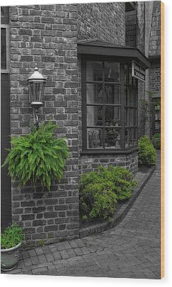 A Touch Of Green In The City Wood Print by Dan Sproul