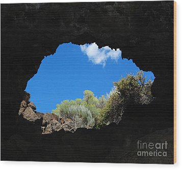 Wood Print featuring the photograph A Touch Of Sky by Debra Thompson