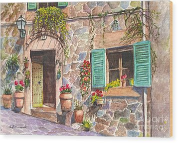 A Townhouse In Majorca Spain Wood Print
