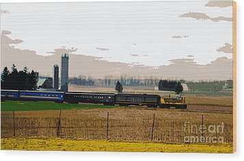 Wood Print featuring the photograph A Train Runs Through It by Nina Silver