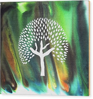 A Tree I Dreamt Of  Wood Print by Sumit Mehndiratta