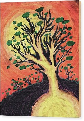 A Tree Is Born Wood Print by David Condry