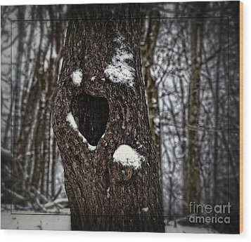 A Tree With Heart Wood Print by Brenda Bostic