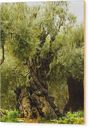 A Treesome Wood Print