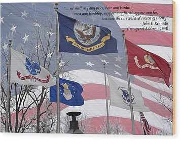A Tribute To Our Freedom Wood Print by Ron Grafe